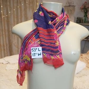 Accessories - Beautiful vintage 70s long scarf